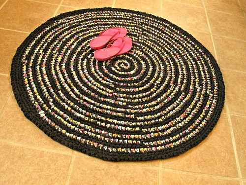 Lovely Hand Crochet Rag Rug Round Black Multi Modern Eco Hand Crochet Rug Of Contemporary 41 Models Hand Crochet Rug