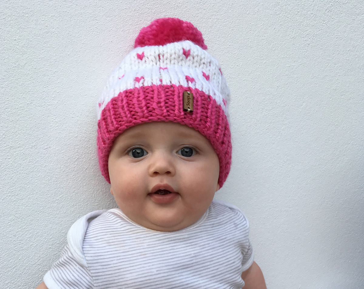 Lovely Hand Knitted Baby Beanie Pom Pom Line Shopping Knitted Baby Beanies Of Charming 44 Models Knitted Baby Beanies