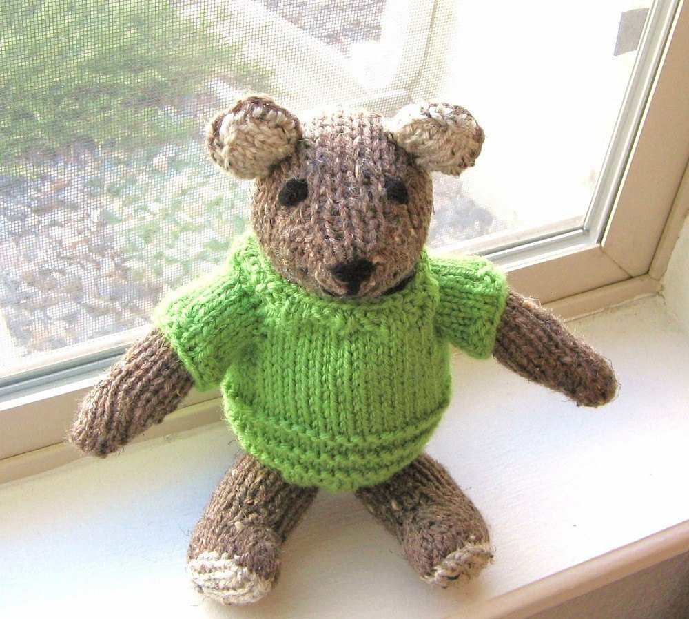 Lovely Hand Knitted Plush Teddy Bear Stuffed Animal Baby toy by Knit Stuffed Animals Of Beautiful 47 Pics Knit Stuffed Animals