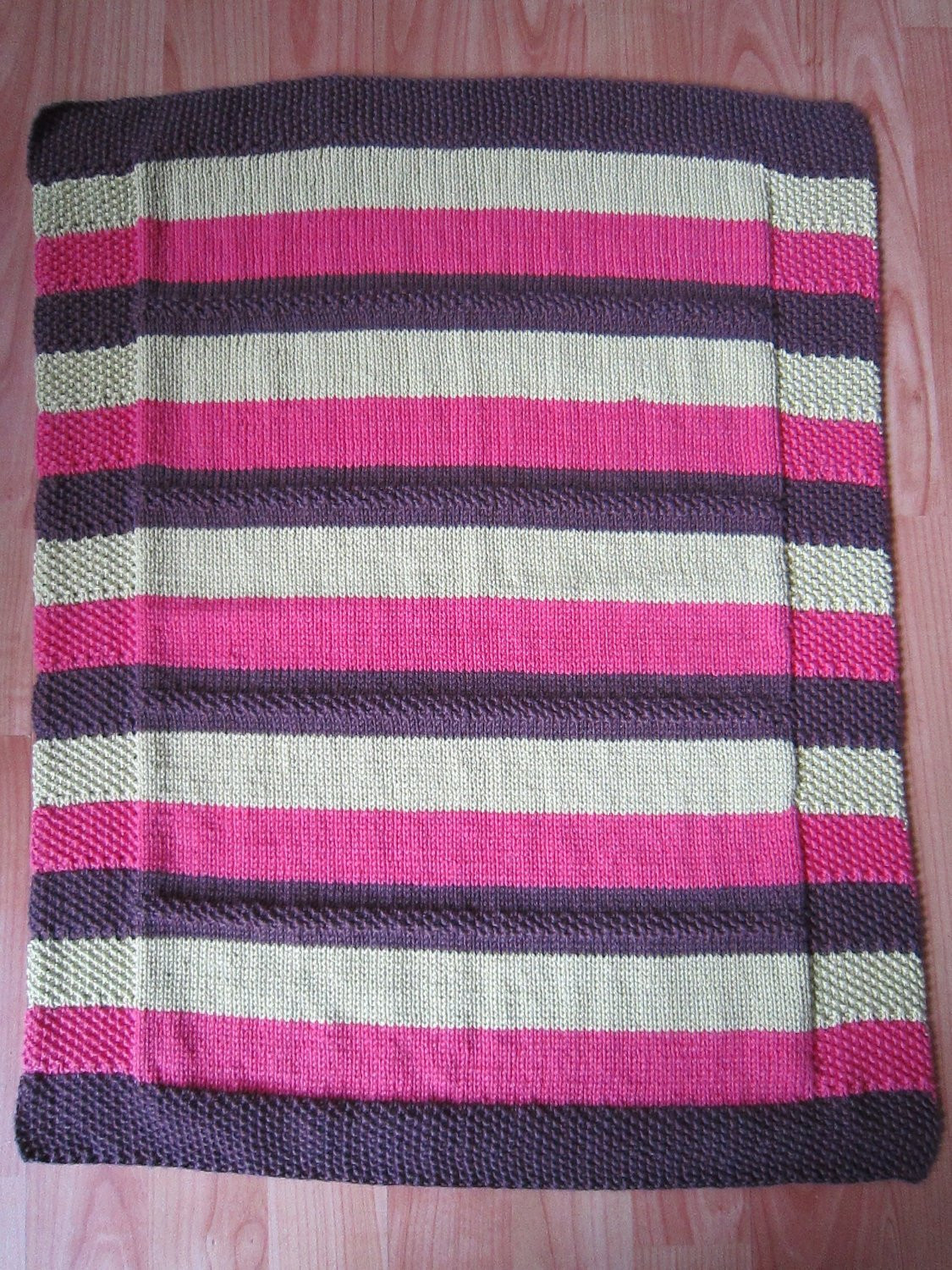 Lovely Hand Knitted Striped Wool and Cotton Baby Blanket Carseat Cotton Knit Baby Blanket Of Awesome 41 Models Cotton Knit Baby Blanket