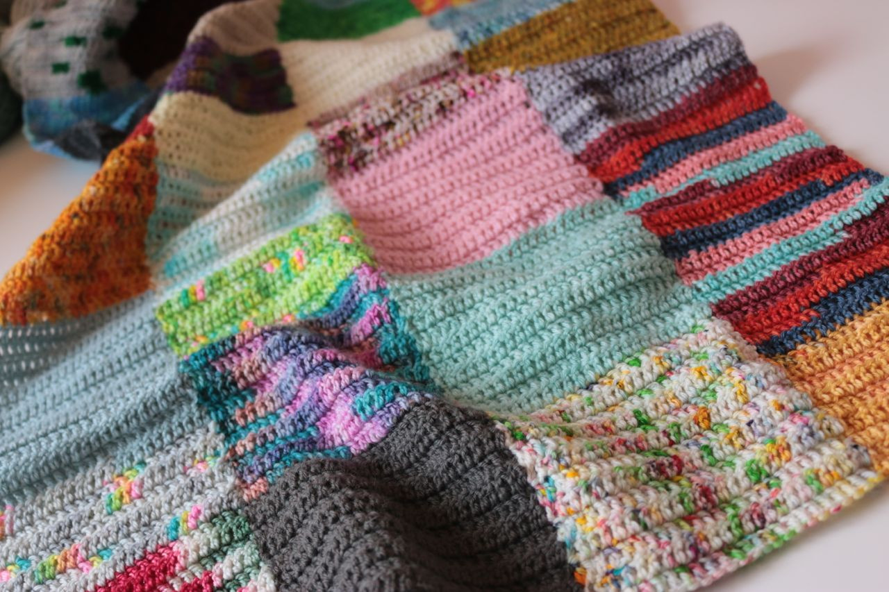 Lovely Happy Scrappy Squares Blanket Crochet Sites Of Incredible 47 Images Crochet Sites