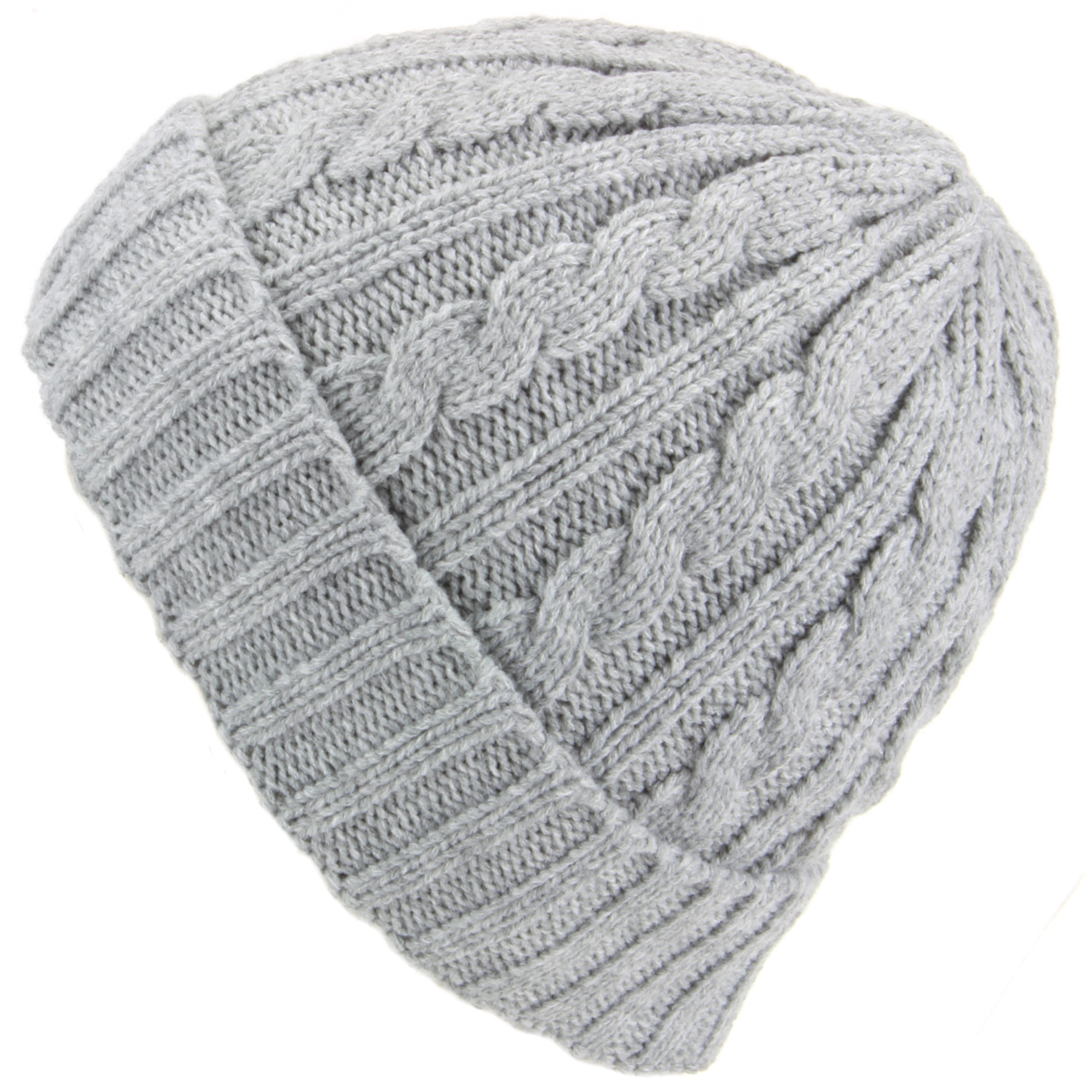 Lovely Hawkins Cable Knit Beanie Hat with Turn Up Light Grey Cable Hat Of Superb 40 Pictures Cable Hat