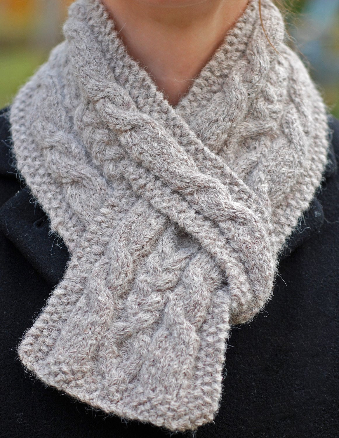 Lovely Hiawatha Pull Through Cable Scarf Knitting Pattern Cable Scarf Of Innovative 49 Ideas Cable Scarf