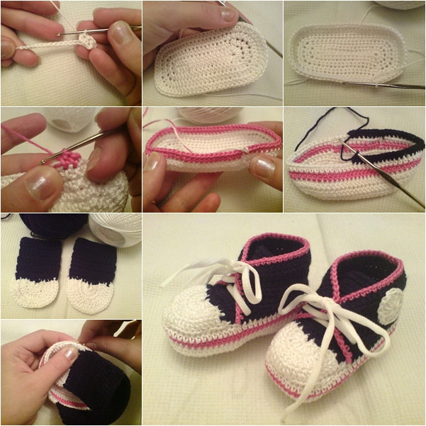 Lovely Homemade Nike Baby Sneakers Free Patterns and Tutorial Crochet Converse Baby Booties Of Wonderful 41 Models Crochet Converse Baby Booties