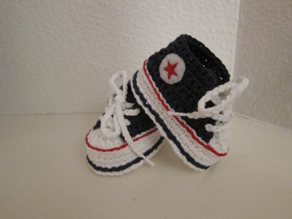 Lovely Homemade Nike Baby Sneakers Free Patterns and Tutorial Crochet Converse Slippers Of Amazing 40 Ideas Crochet Converse Slippers