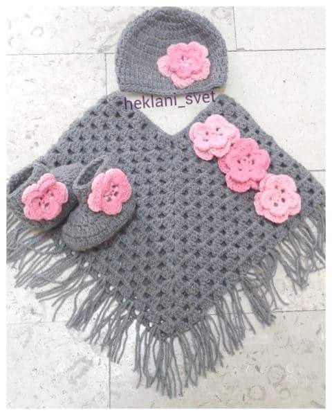 how to crochet a baby poncho for beginners