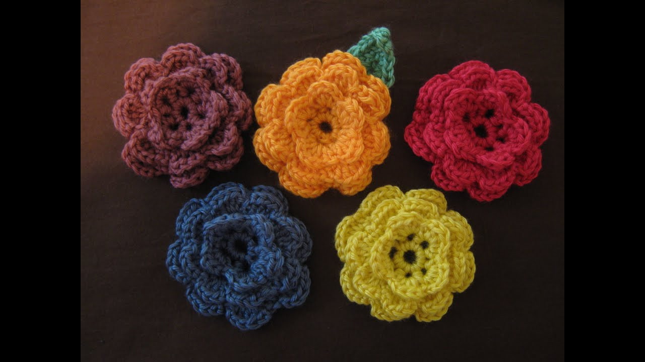 How to crochet a flower part 1