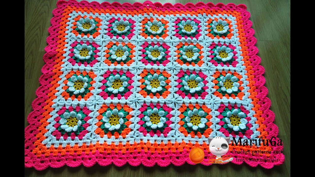 Lovely How to Crochet Baby Flower Blanket Afghan Free Pattern Crochet Blanket Patterns Youtube Of Innovative 46 Images Crochet Blanket Patterns Youtube
