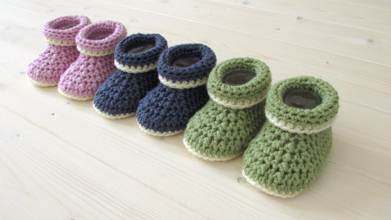 Lovely How to Crochet Cuffed Baby Booties for Beginners Begi Crochet Baby socks Of New Berry Baby Booties Knitting Pattern Easy Crochet Baby socks