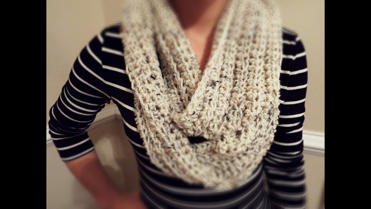 Lovely How to Crochet Ribbed Infinity Scarf Crochet Scarf Youtube Of Attractive 40 Pictures Crochet Scarf Youtube