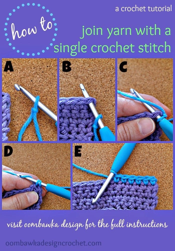 How To Join with a Single Crochet Stitch • Oombawka Design