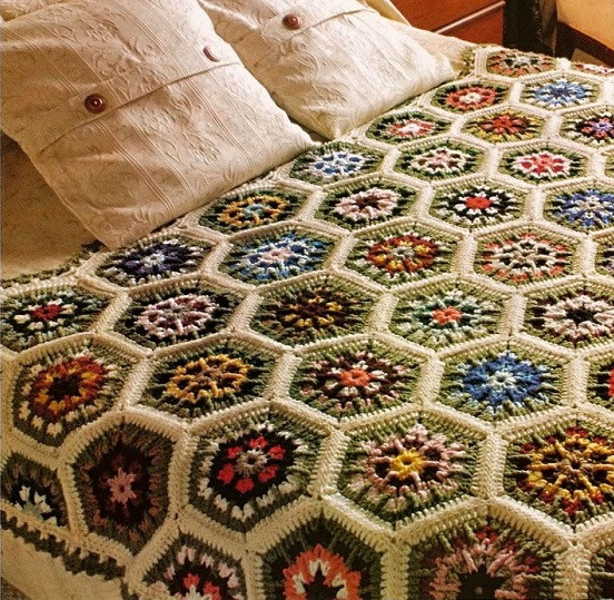 How to make quilt crochet squares hexagons Tutorial
