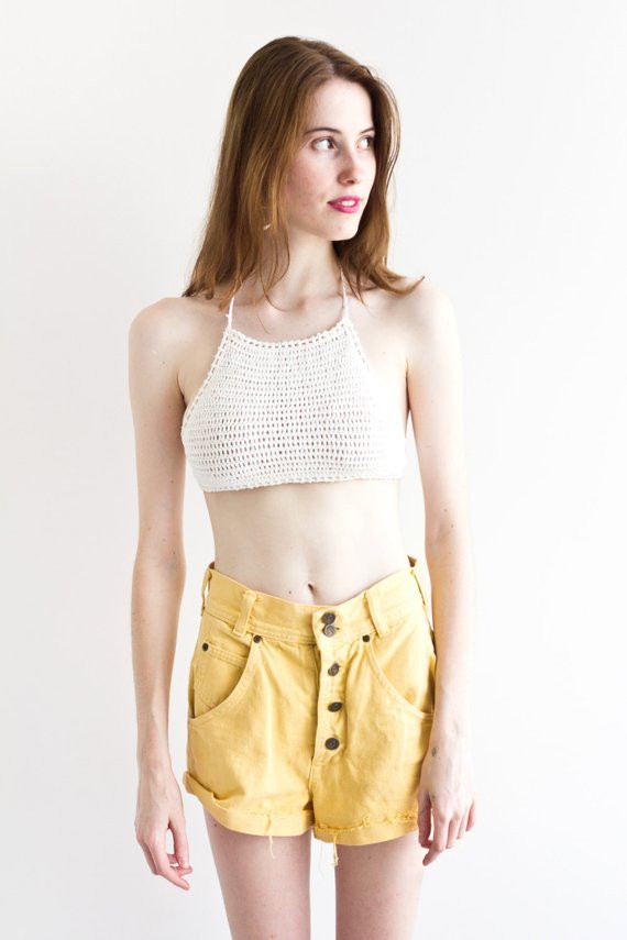 Lovely isla Crochet top White Crochet Knitted Halter Crop top Crochet Halter Crop top Of Superb 43 Photos Crochet Halter Crop top