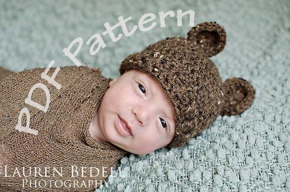 Lovely Items Similar to Baby Crochet Bear Hat Pattern Easy Crochet Baby Hat with Ears Of Lovely 43 Pics Crochet Baby Hat with Ears