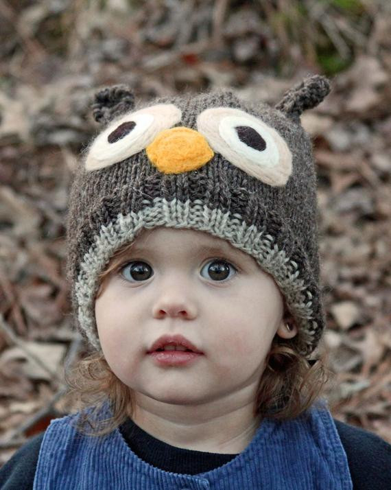 Lovely Items Similar to Custom Knit Owl Hat Available In 8 Knitted Owl Hat Of Amazing 40 Photos Knitted Owl Hat