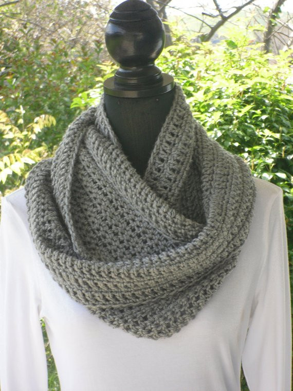 Lovely Items Similar to Infinity Eternity Cowl Neck Warmer Scarf Crochet Cowl Neck Scarf Of Superb 49 Models Crochet Cowl Neck Scarf