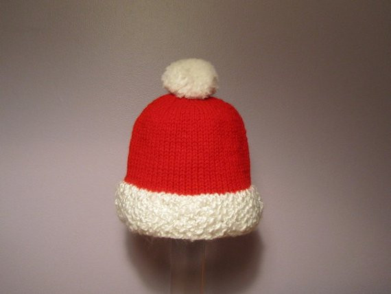 Lovely Items Similar to Knitted Baby Hat Santa Holiday Hand Knitted Santa Hat Of Fresh 50 Photos Knitted Santa Hat