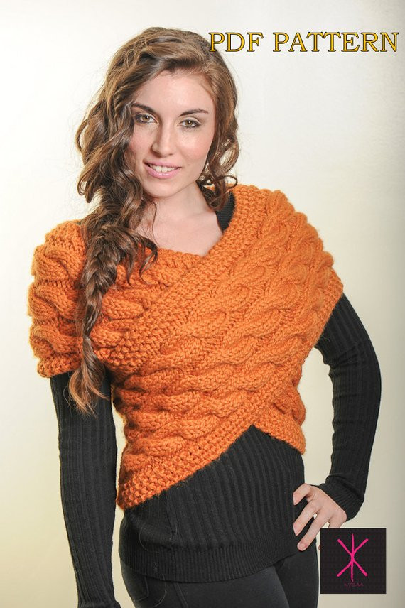 Lovely Items Similar to Knitting Pattern Handknit Designer Designer Knitting Patterns Of Incredible 48 Pics Designer Knitting Patterns