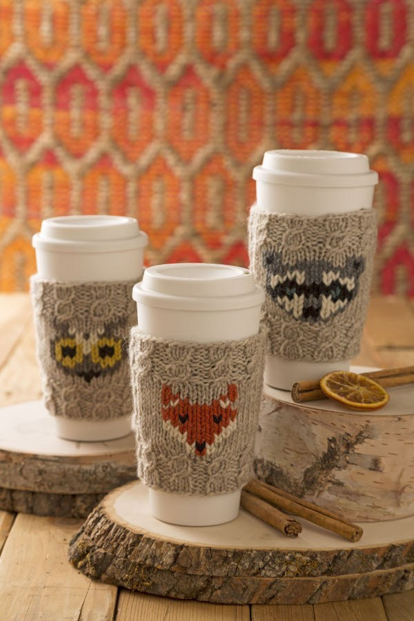 Lovely Knit A Sweet Coffee Cozy with A Woodland Creature – Knitting Knit Coffee Cozy Of Luxury 48 Photos Knit Coffee Cozy