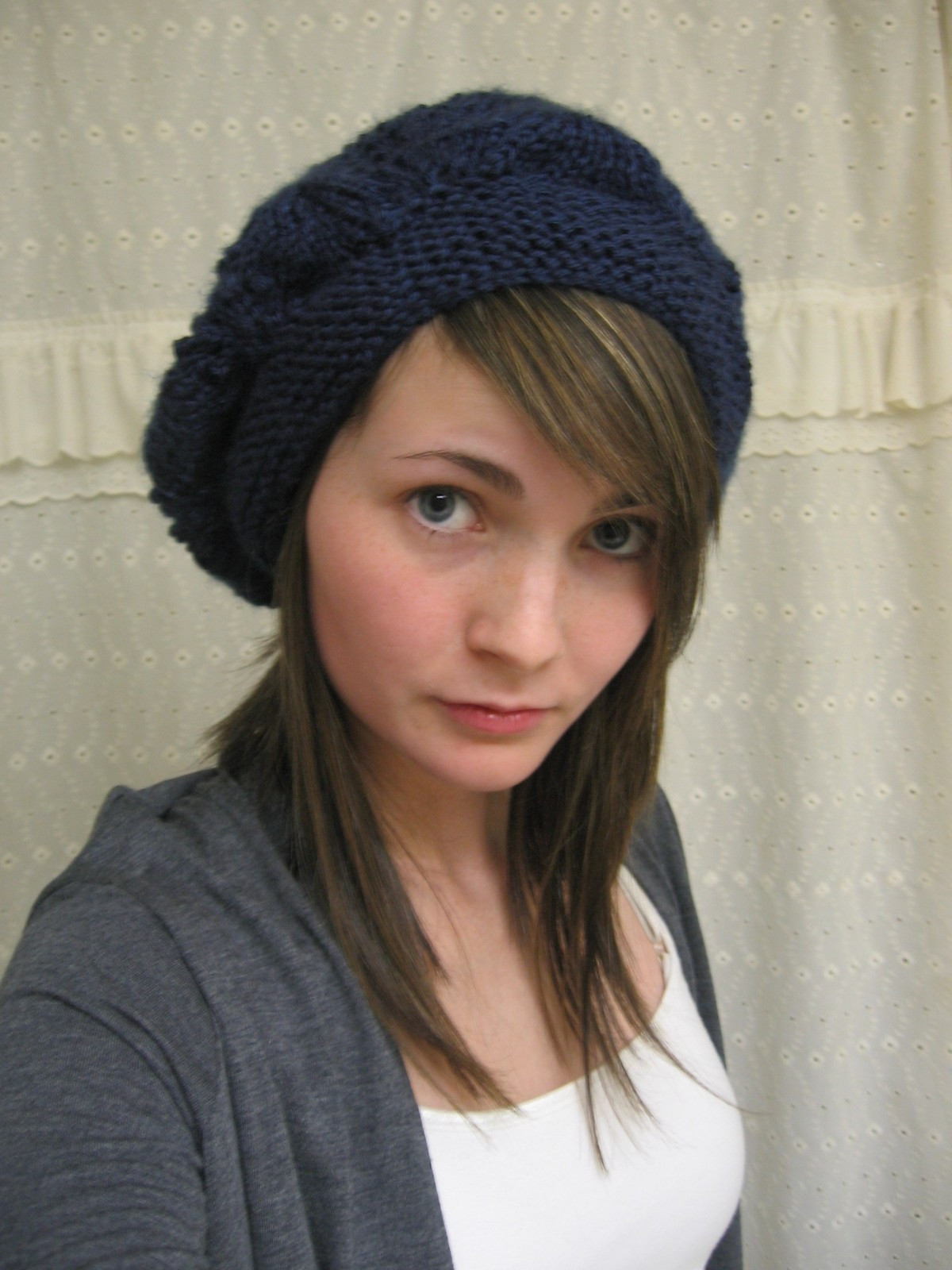 Knit Beret Hat · How To Make A Beret · Knitting on Cut Out