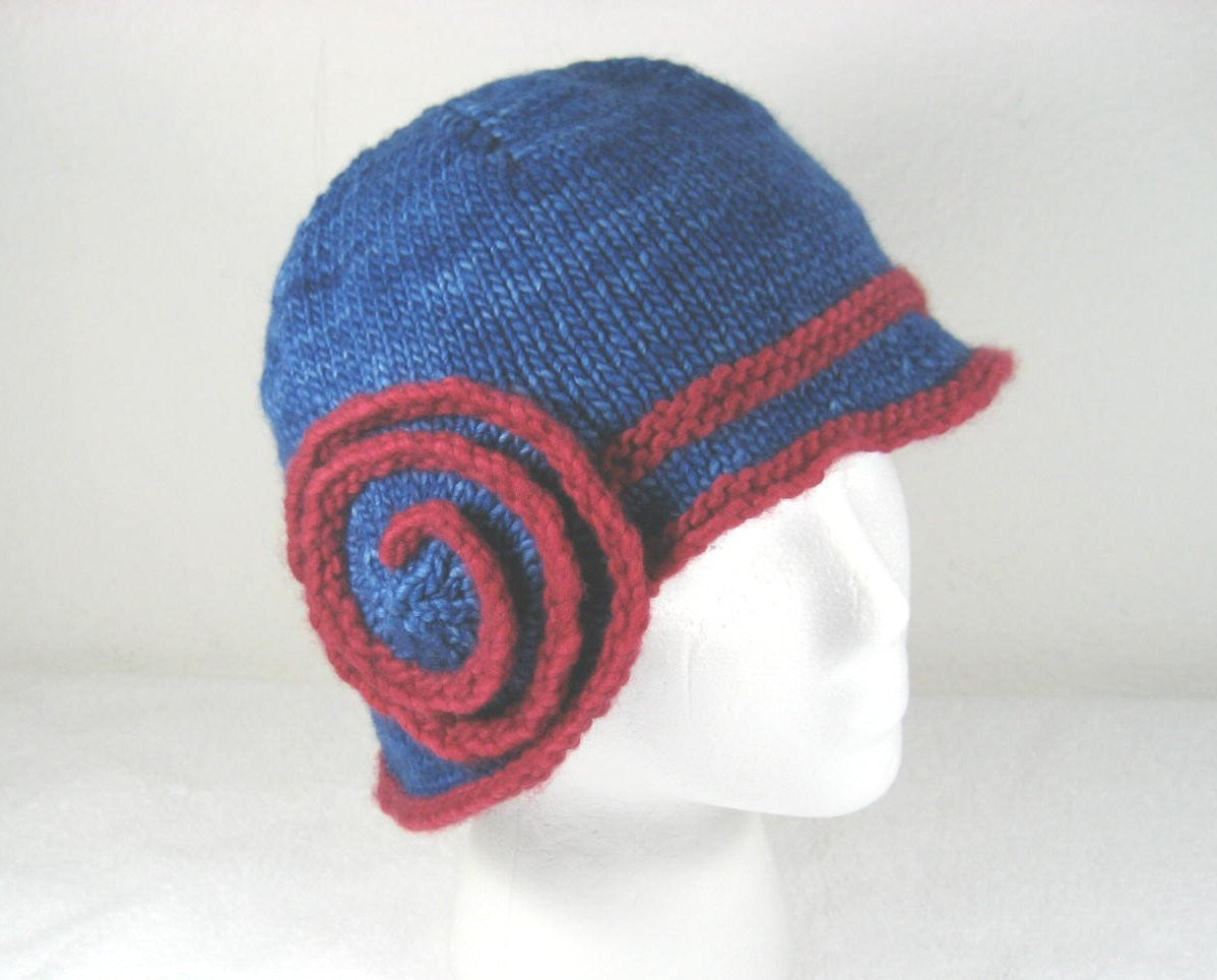 Lovely Knit Cloche Hat Blue Merino Hat Flapper Hat 1920s Hat Knit Cloche Hat Of Attractive 40 Photos Knit Cloche Hat