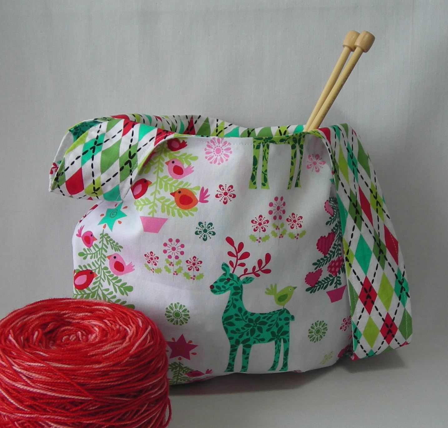 Lovely Knit Crochet Project Bag Japanese Knot Bag Reindeer Tree Project Bag Pattern Of Incredible 47 Models Project Bag Pattern