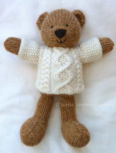 Lovely Knit Cute Bear Several Cute Critter Knit Patterns for Sale Knitted Teddy Bear Of Amazing 45 Ideas Knitted Teddy Bear