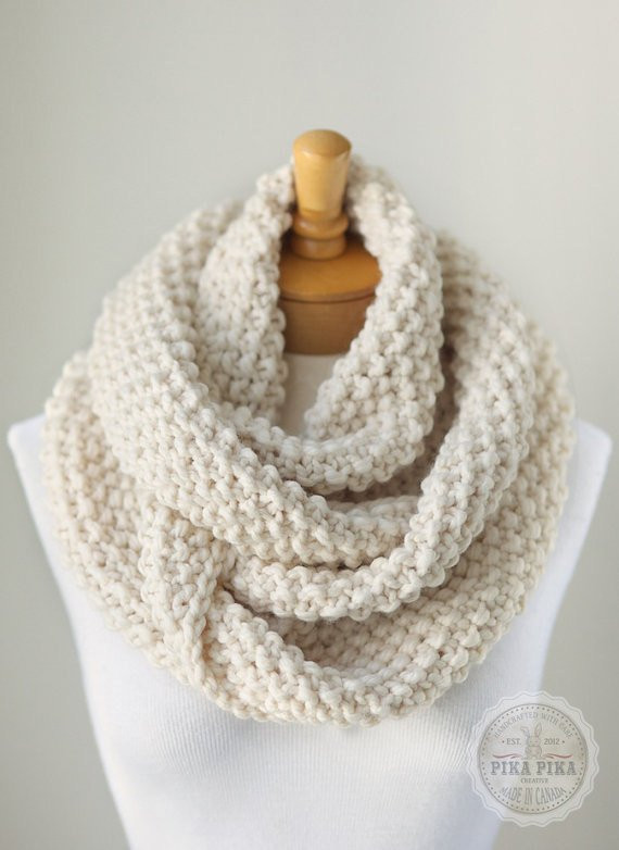 Lovely Knit Infinity Scarf Chunky Knitted Infinity by Chunky Knit Scarf Of Top 50 Photos Chunky Knit Scarf