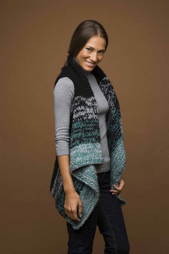 Knit Rectangle Vest in Lion Brand Jiffy AD