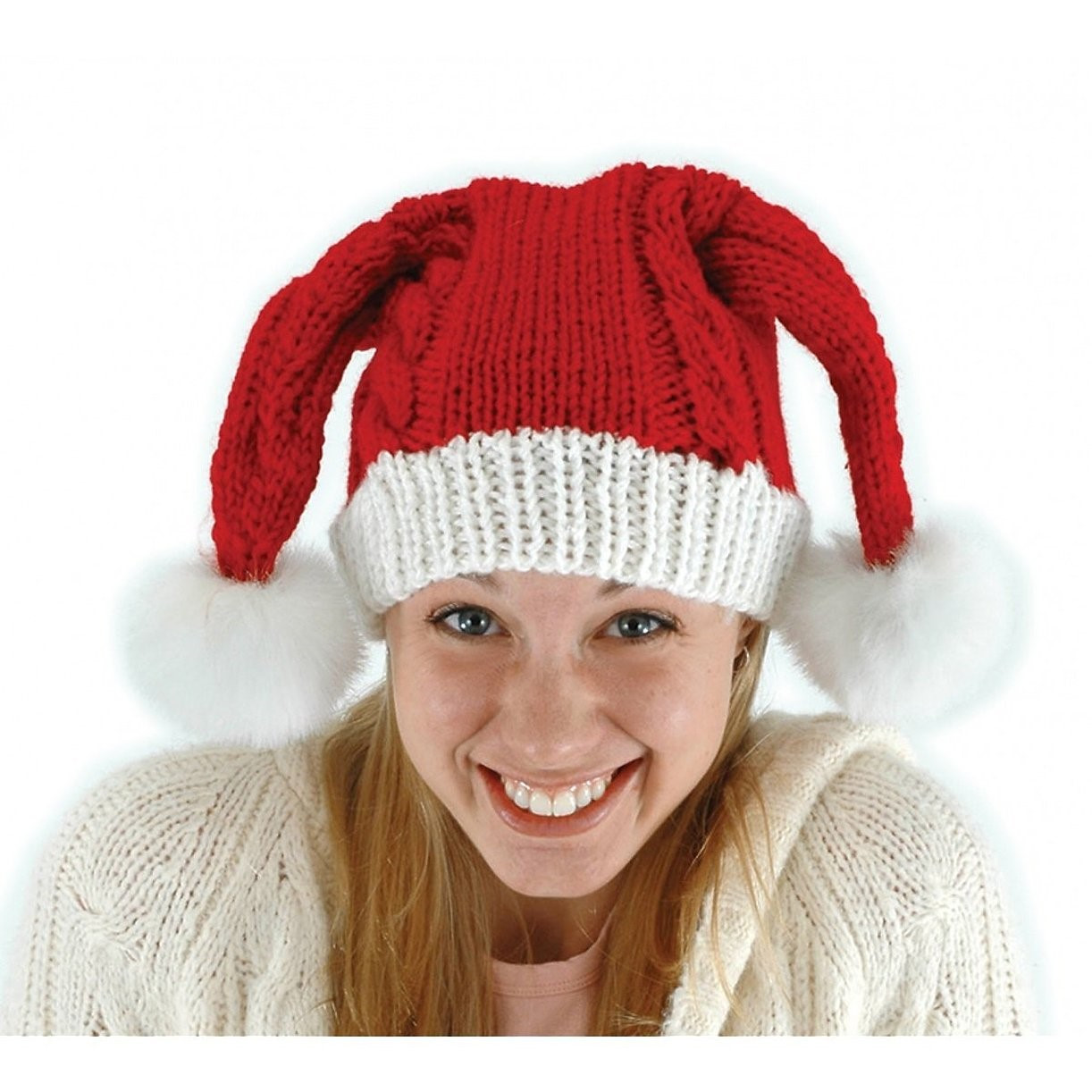 Lovely Knit Santa Claus Adult Red Hat Costume Accessory E Size Knitted Santa Hat Of Fresh 50 Photos Knitted Santa Hat