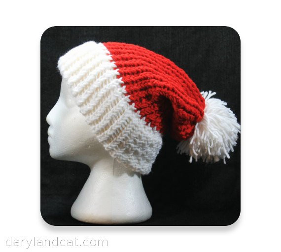 Lovely Knit Santa Hat Christmas Men S Knit Hat Women S by Darylandcat Knitted Santa Hat Of Fresh 50 Photos Knitted Santa Hat