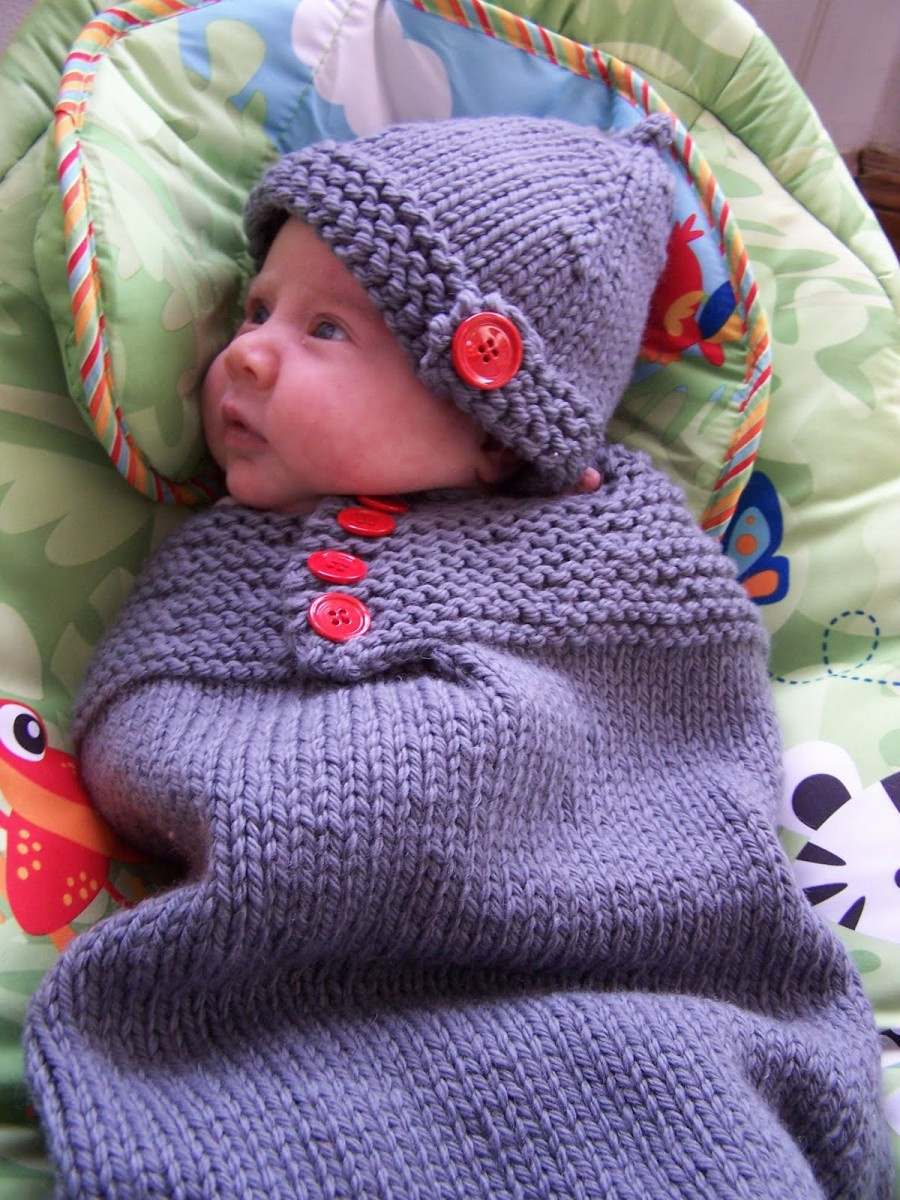 Knitted Baby Cocoons