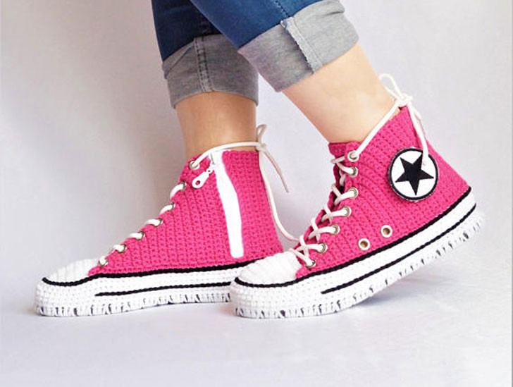 Knitted Crochet Converse Slippers Awesome Stuff 365