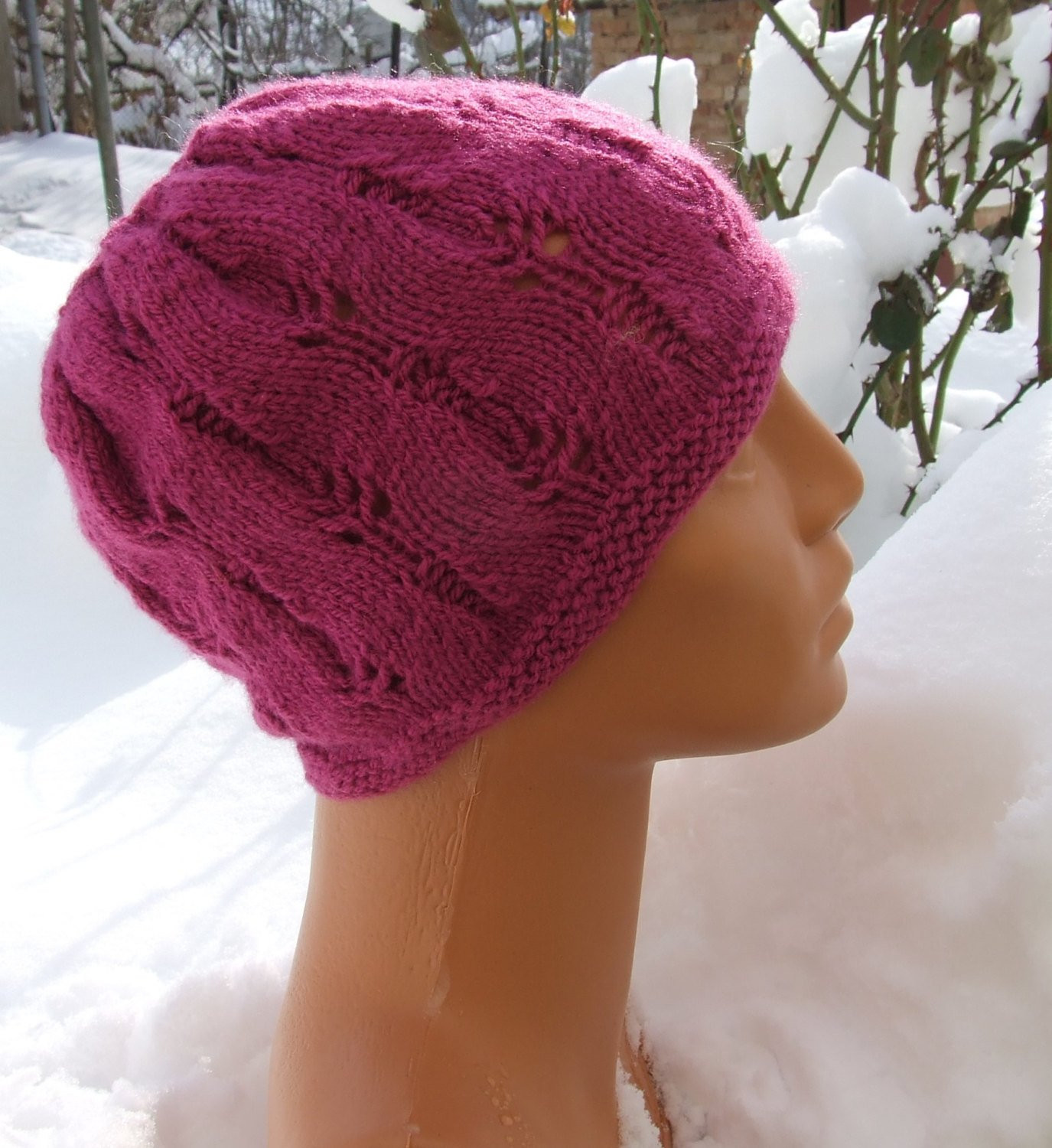 Lovely Knitted Pink Pony Tail Beanie Messy Bun Hat top by Wooliebits Messy Bun Beanie Knit Pattern Of Delightful 48 Pics Messy Bun Beanie Knit Pattern