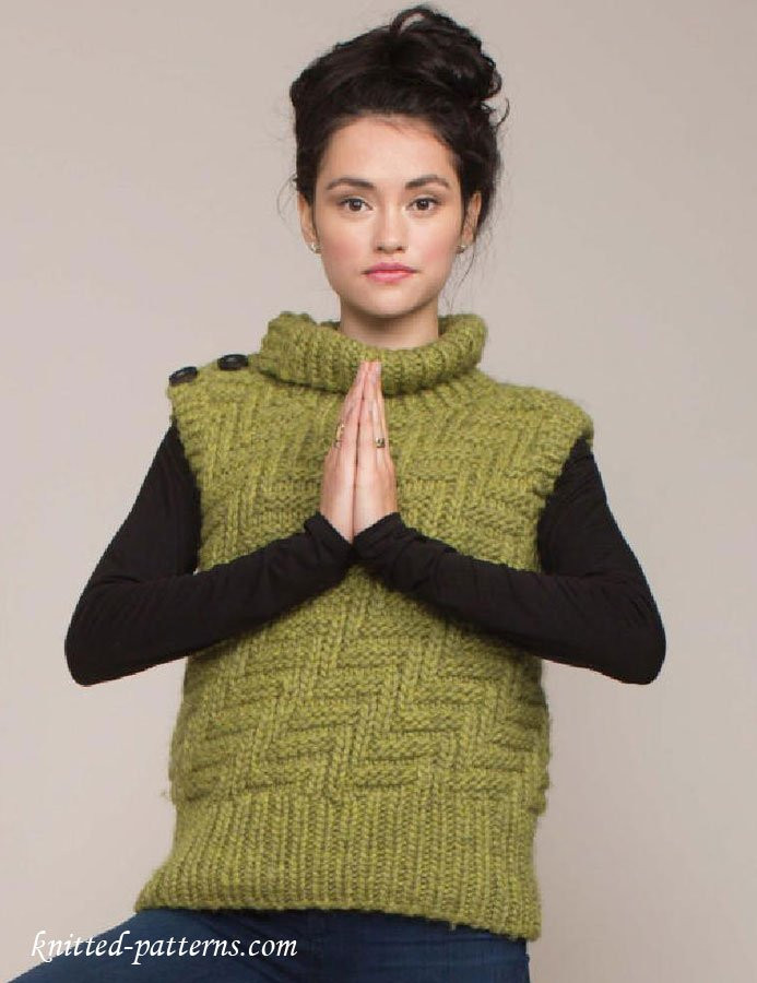 Knitted Womens Vest – Oasis amor Fashion