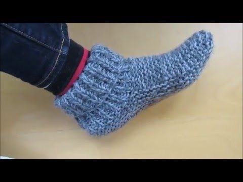 Knitting adult size slippers with a french accent