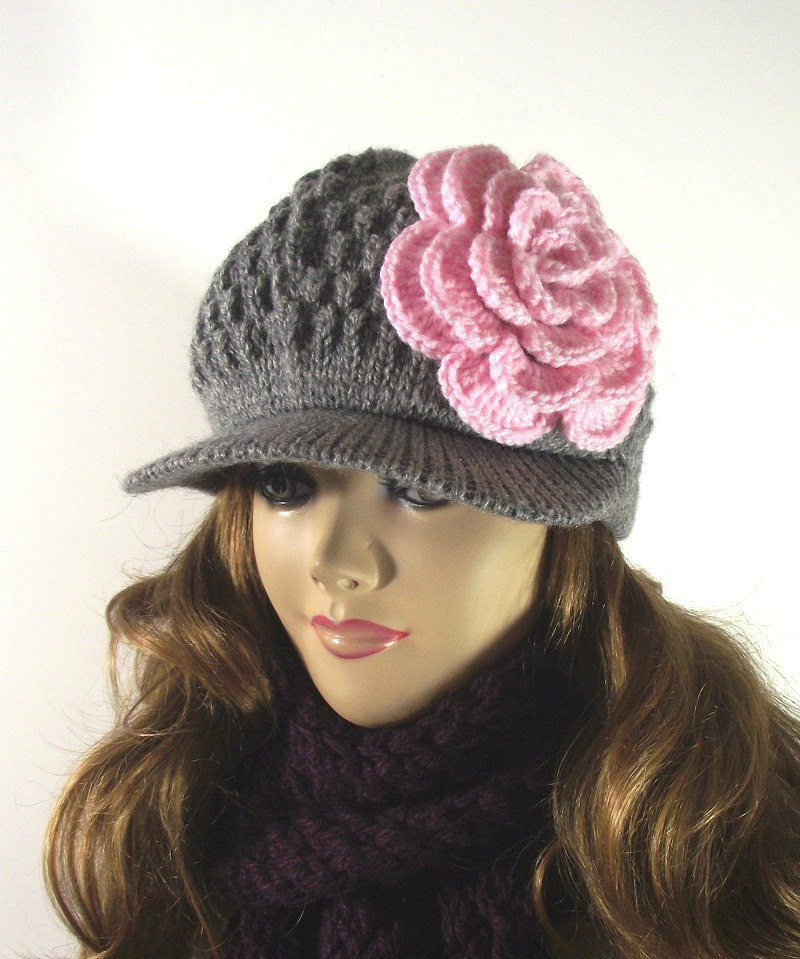 Lovely Knitting Hat Pattern Newsboy Brim Cap Claire by Knit Hat with Brim Of Contemporary 48 Pictures Knit Hat with Brim