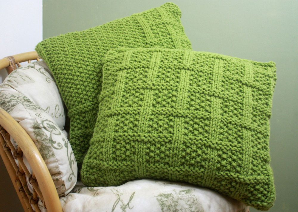 Lovely Knitting Pattern 003 Square Lattice Pattern Cushion Covers Knit Pillow Cover Pattern Of Amazing 45 Pics Knit Pillow Cover Pattern