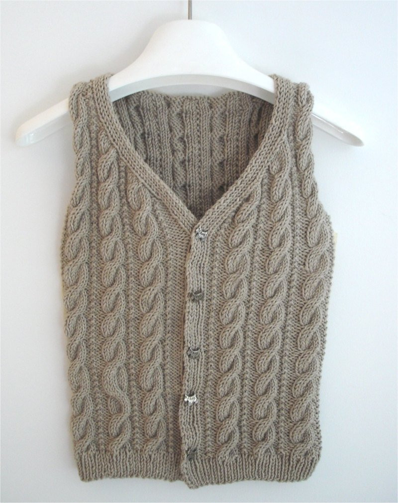 Lovely Knitting Pattern Boy S Cabled Vest Pdf Sweater Pattern Knitted Vest Of Great 48 Pics Knitted Vest