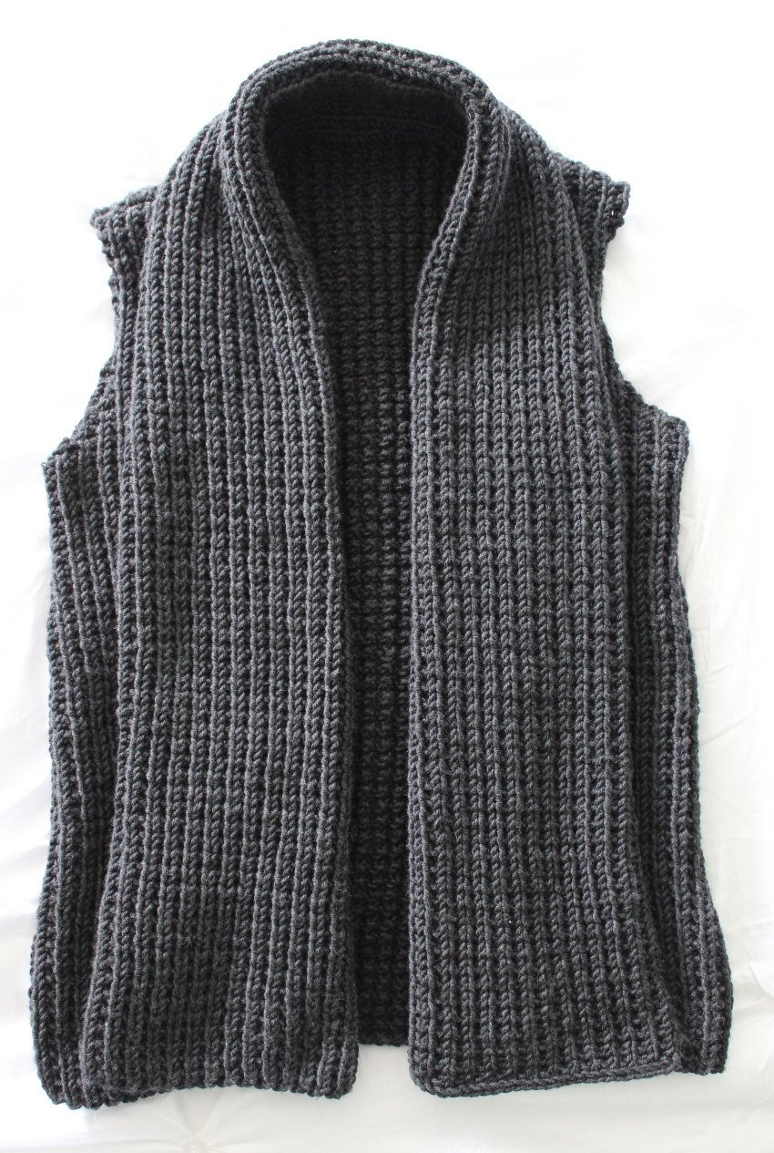 Lovely Knitting Pattern Chunky Wide Collar Vest Pdf Knitting Pattern Women's Knitted Vest Patterns Of Amazing 48 Ideas Women's Knitted Vest Patterns
