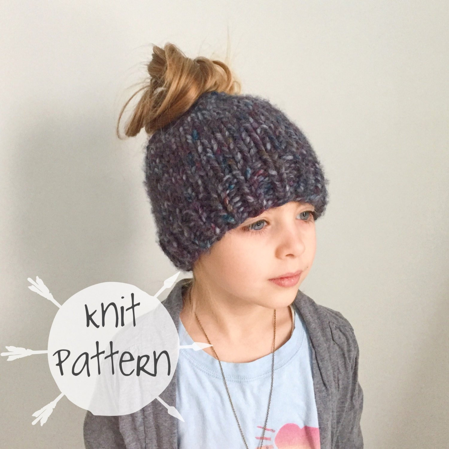 Lovely Knitting Pattern Fun Messy Bun Beanie by In Fiberart Free Knitting Pattern for Messy Bun Hat Of Delightful 40 Pictures Free Knitting Pattern for Messy Bun Hat
