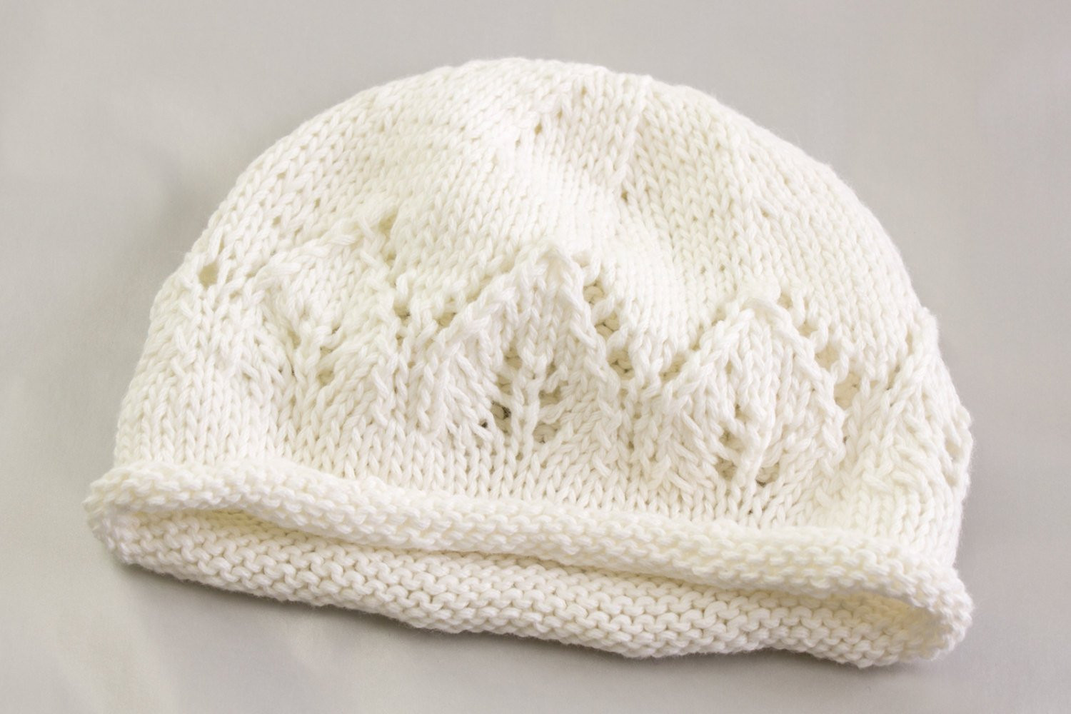 KNITTING PATTERN Newborn Baby Hat Baby Hat with Lace Panel