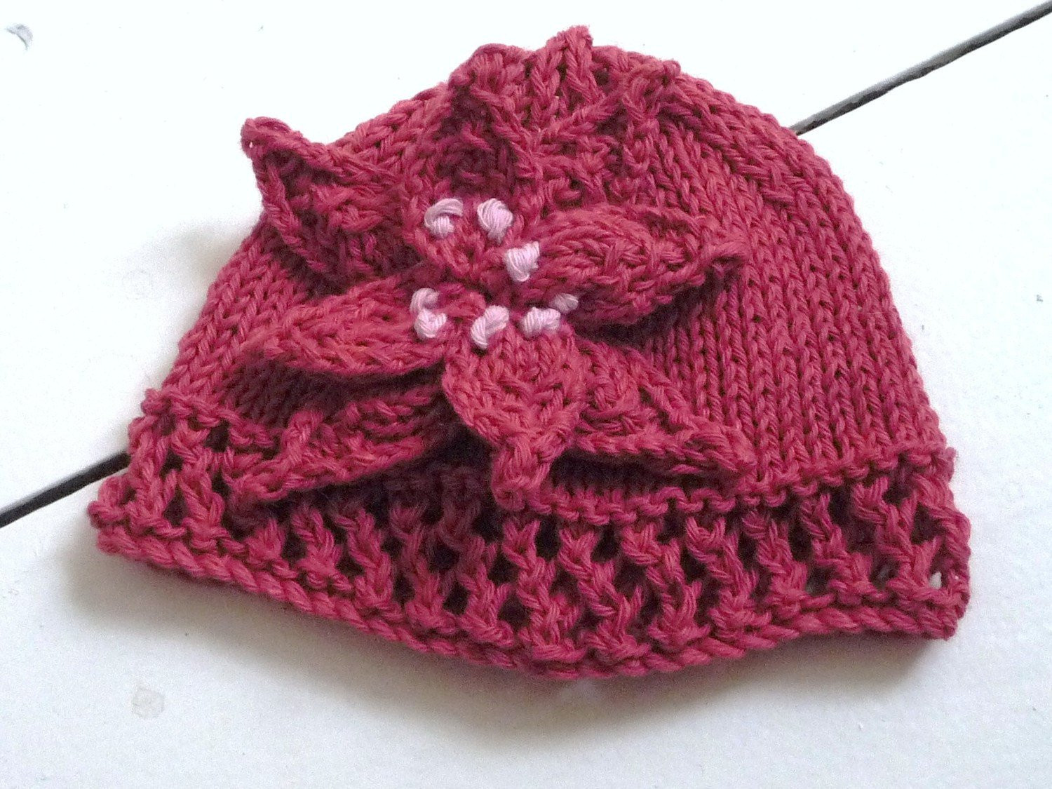 Lovely Knitting Patterns for Baby Hats Free Patterns Knitted Baby Bonnet Of Top 47 Pics Knitted Baby Bonnet