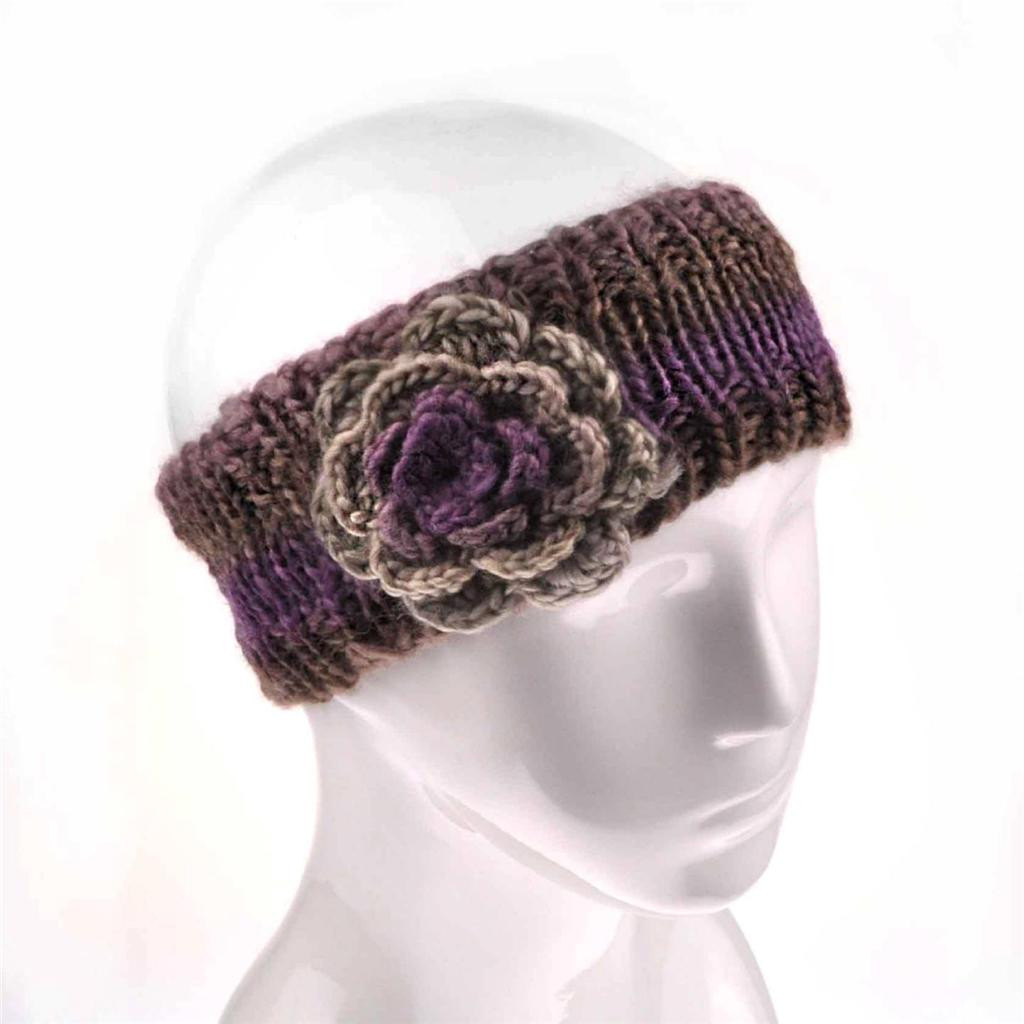 La s Winter Flower Warm Knit Headband Hairband Ear