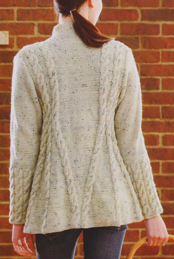 """Lovely La S Womans Aran A Line Cable Swing Jacket 34"""" 56 Free Cardigan Knitting Patterns Of Top 49 Images Free Cardigan Knitting Patterns"""