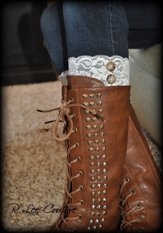 Lovely Lace Boot Cuffs Faux Lace Boot socks Faux Lace by Rleecouture Lace Boot Cuffs Of Awesome 50 Pictures Lace Boot Cuffs