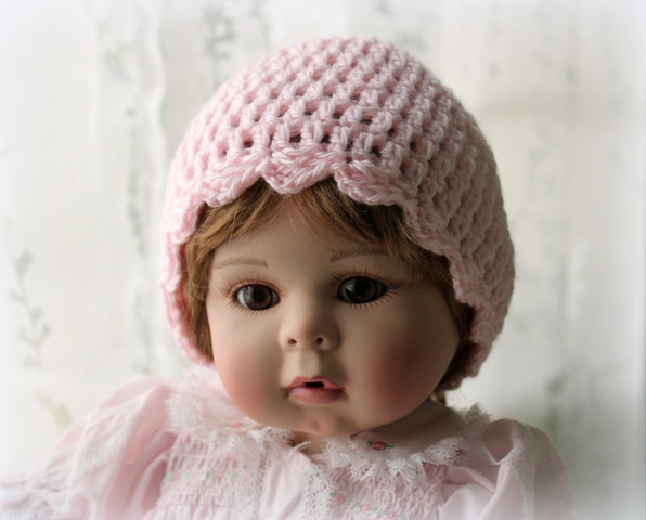 Lovely Lacy Crochet Simple Baby Beanie with Scalloped Edging Easy Crochet Beanie Of Beautiful 44 Photos Easy Crochet Beanie