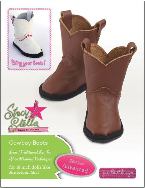 Lovely Leather Cowboy Boots 18 Inch Dolls Pattern Pdf Download Doll Shoes Pattern Of Lovely 46 Pictures Doll Shoes Pattern