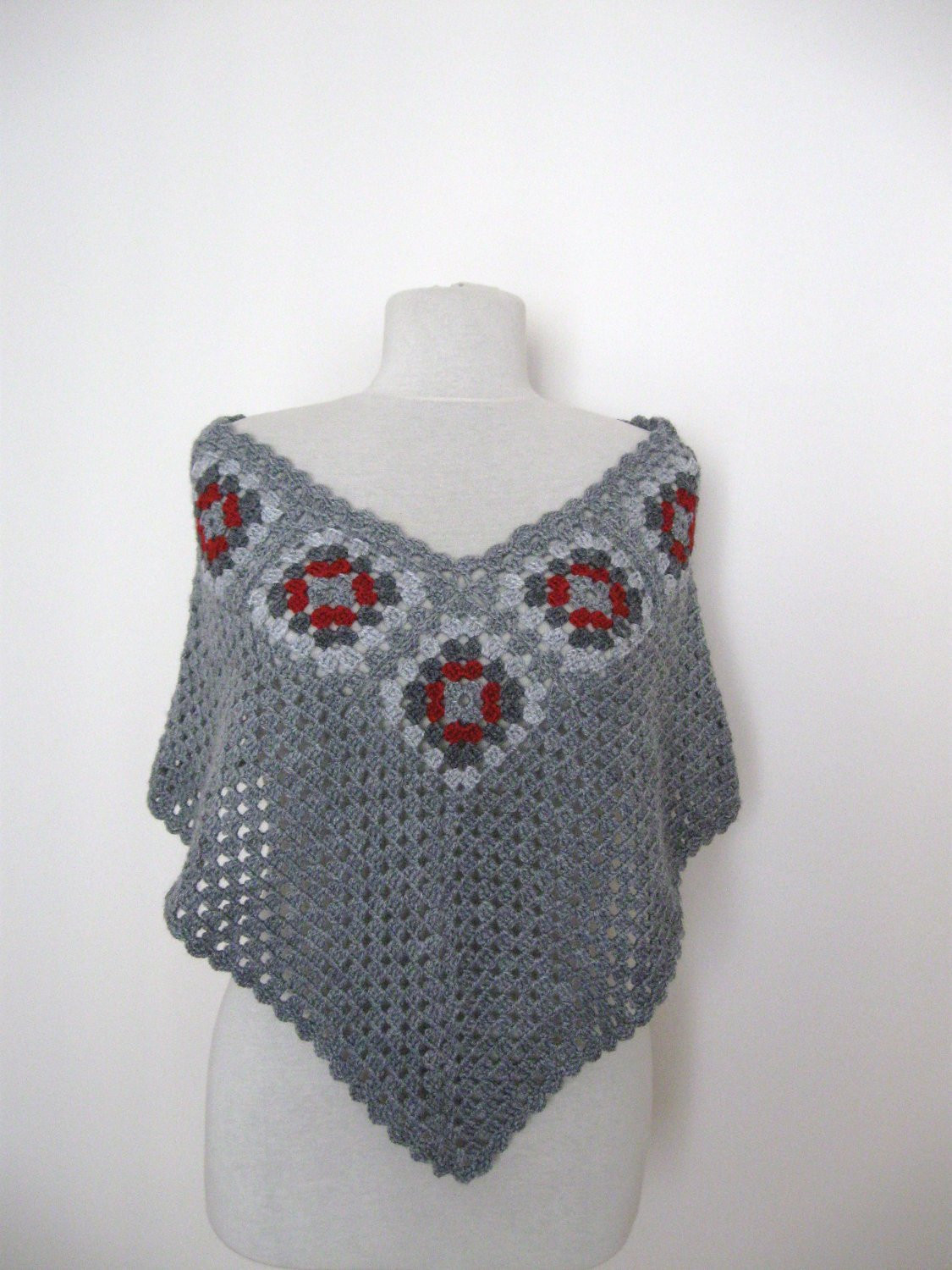 Lovely Lighting Granny Square Poncho Of Adorable 49 Photos Granny Square Poncho
