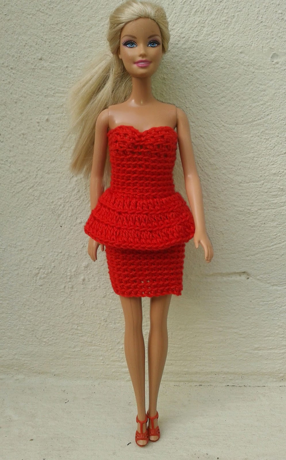 Lovely Linmary Knits Barbie In Red Crochet Dresses Crochet Barbie Clothes Of Marvelous 46 Photos Crochet Barbie Clothes